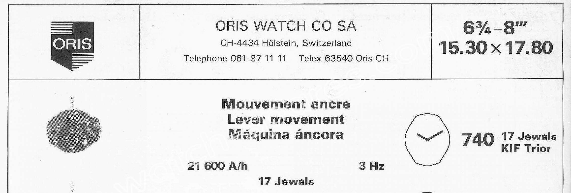 Oris 740