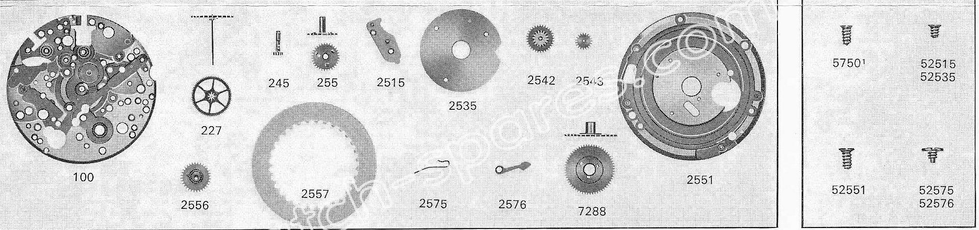 A Schild AS 1931 watch date part