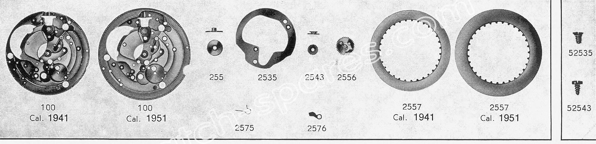 A Schild AS 1951 watch date part
