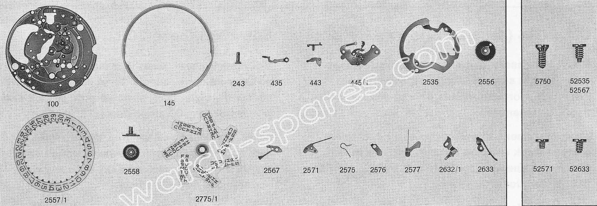 A Schild AS 2086 watch date parts