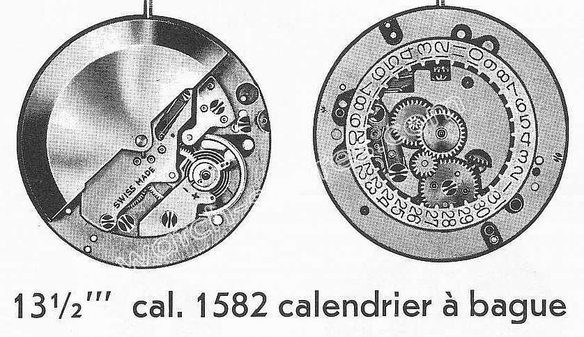 Baumgartner BFG 1582 watch calander movement