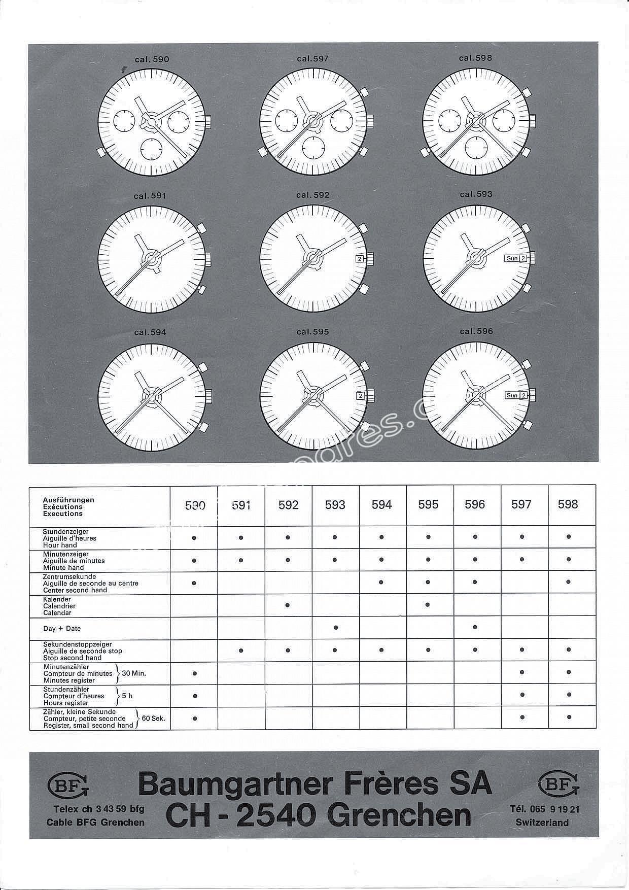 Baumgartner BFG 590 watch movement