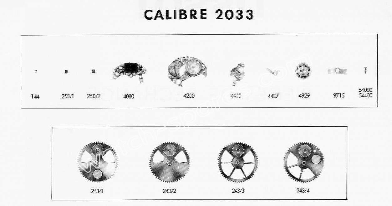 Tissot 2033 watch spare parts