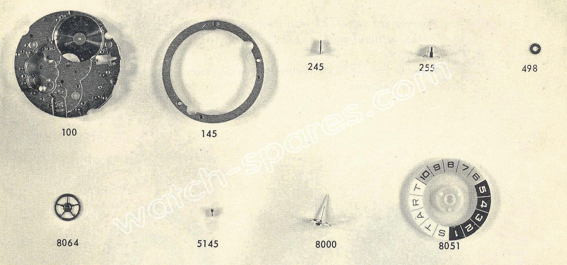 Valjoux 7737 watch spare part